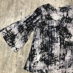 Spense Black and White Blouse